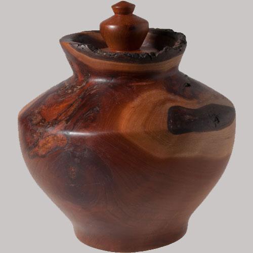 Scott Schlapkohl Creations - Cherry Lidded vessel