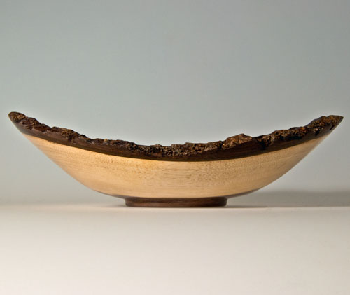 Scott Schlapkohl Creations - Walnut Bark Edge Bowl