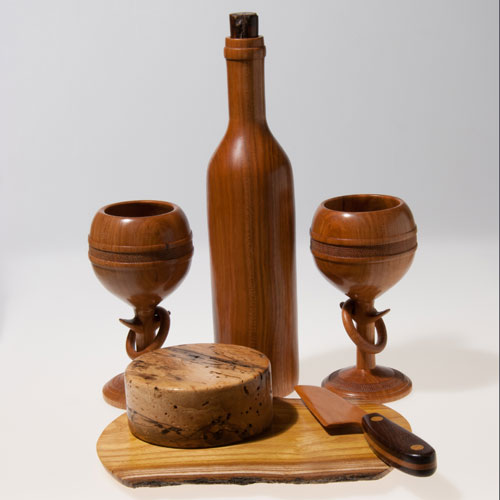 Scott Schlapkohl Creations - Wooden Wine and Cheese